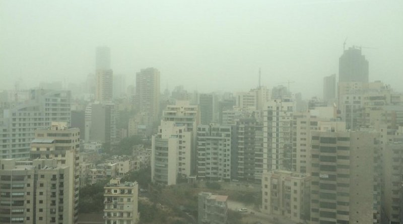 This is the dust storm in Beirut, Lebanon. Credit Eli Bou-Zeid