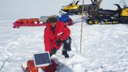 CSU researchers, including Rob Anthony (pictured), measured seismic signals generated by ocean waves in Antarctica. Credit Rob Anthony, USGS