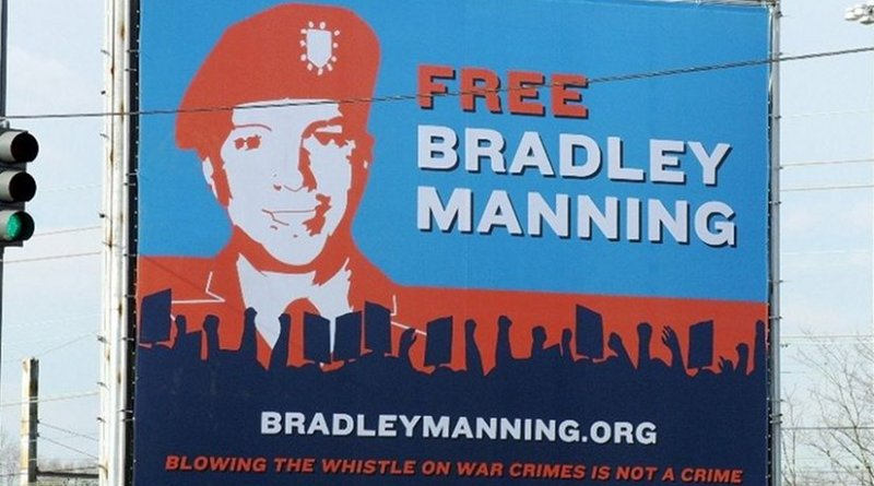 Billboard erected in Washington, D.C., by the Private Manning Support Network. Source: Wikipedia Commons.