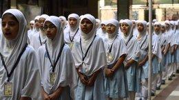Girls attending Fatemah Zehra English Medium School. Credit: Youtube Screenshot from Fatemah Zehra English Medium School video.