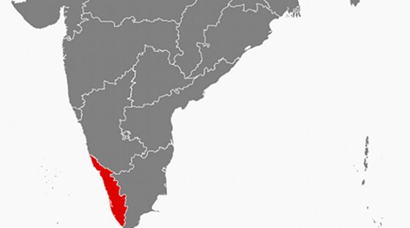 Location of Kerala in India. Source: Wikipedia Commons.
