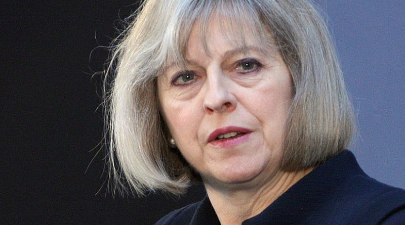 File photo of United Kingdom's Theresa May. Photo Credit: Foreign and Commonwealth Office, Wikipedia Commons.