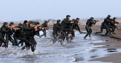 Iran's IRGC's Naval special forces, S.N.S.F. Photo Credit: sayyed shahab-o- din vajedi, Wikipedia Commons.