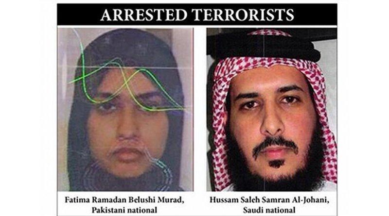 Saudi Arabia arrests two terrorists. Source: Arab News.