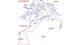 Map of the Indus River basin. Credit: Kmhkmh, Wikipedia Commons.