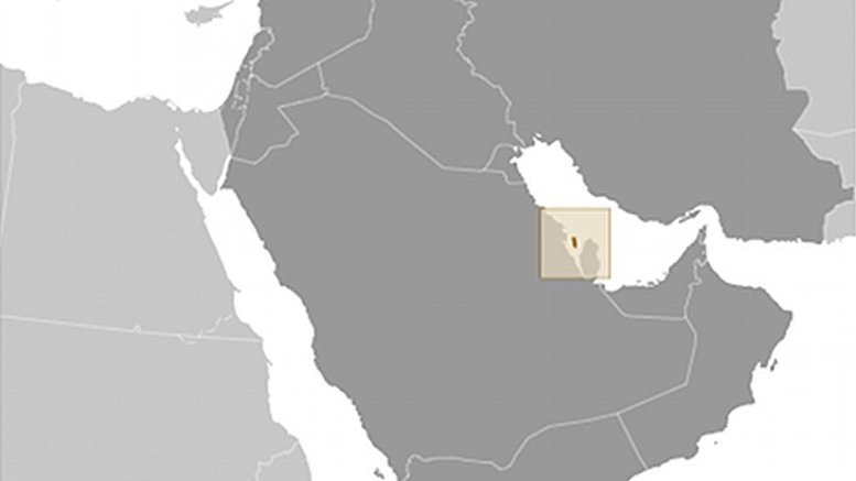 Location of Bahrain. Souce: CIA World Factbook.