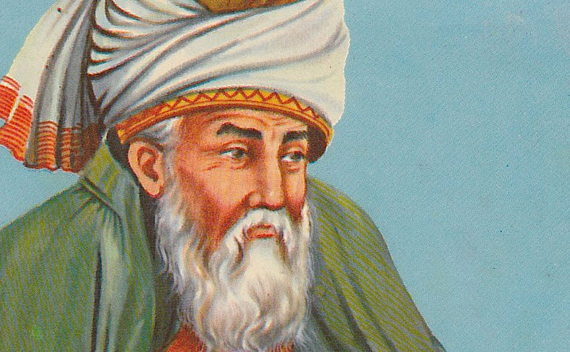 Jalaluddin Al-Rumi. Credit: Molavi, Wikipedia Commons.