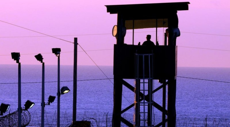 This is a guard tower at the US military prison at Guantanamo Bay, Cuba. Credit US Navy