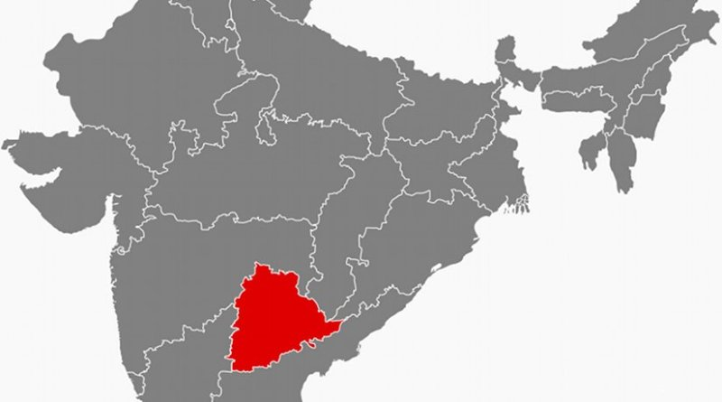 Location of Telangana in India. Source: Wikipedia Commons.