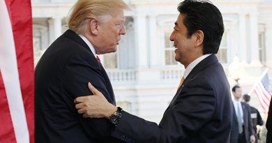 US President Donald Trump and Japan's Prime Minister Abe Shinzo. Photo Credit: Japan PM Office, kantei.go.jp