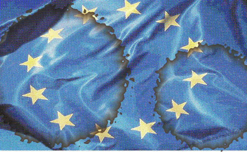 stained european union flag