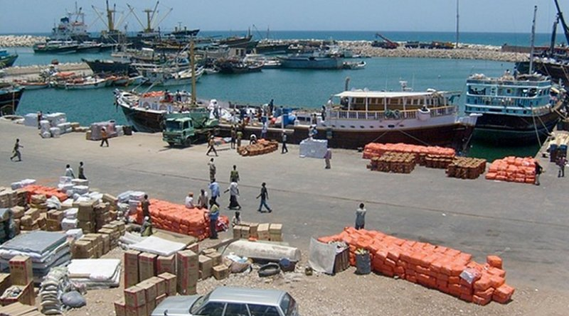 The Port of Bosaso, Somalia. Photo by Siphon, Wikipedia Commons.