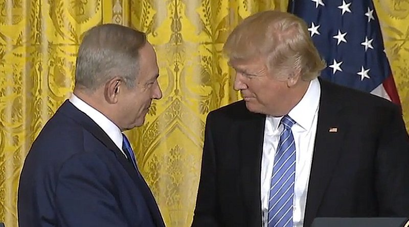 Israel PM Benjamin Netanyahu and US President Donald Trump. Credit: White House video screenshot.