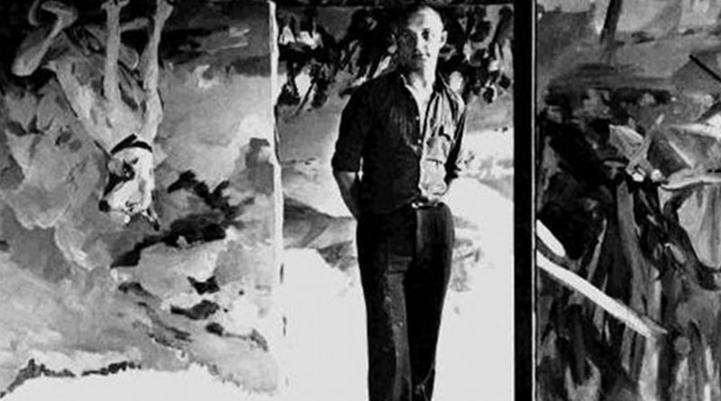 Georg Baselitz, photographed by Lothar Wolleh. Source: Wikipedia Commons.