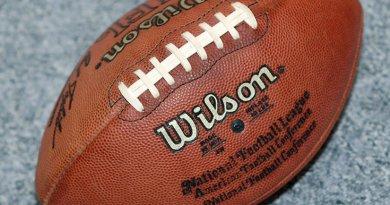 An American Football ball. Photo by Torsten Bolten, Wikipedia Commons.