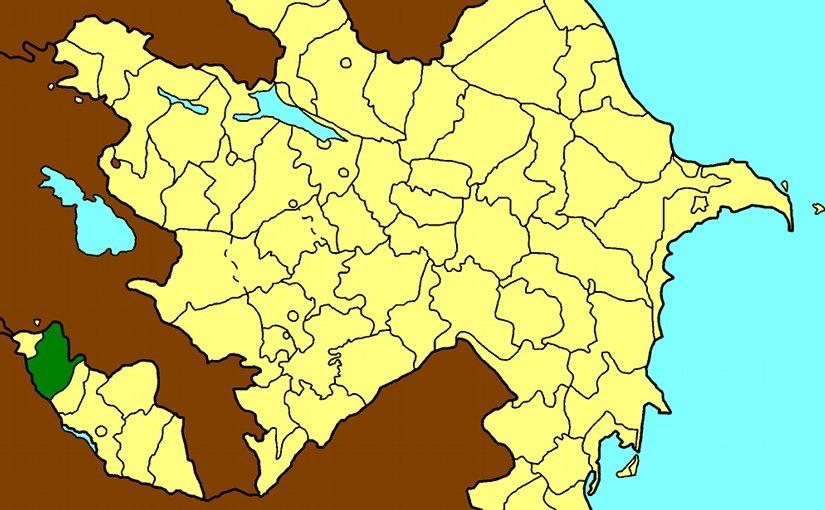 Map of Azerbaijan showing Sharur Region. Source: Wikipedia Commons.