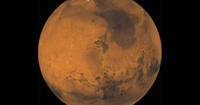 This view of Mars was created from about 1,000 Viking Orbiter images. Credit NASA Jet Propulsion Laboratory, U.S. Geological Survey