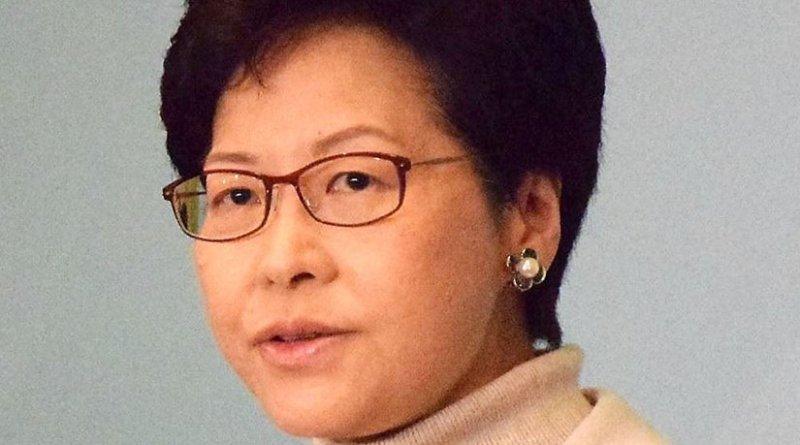 Hong Kong's Carrie Lam. Photo by Iris Tong, Wikipedia Commons.