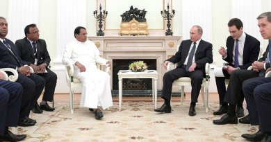 President of Sri Lanka Maithripala Sirisena meets with Russia's President Vladimir Putin. Photo Credit: Kremlin.ru