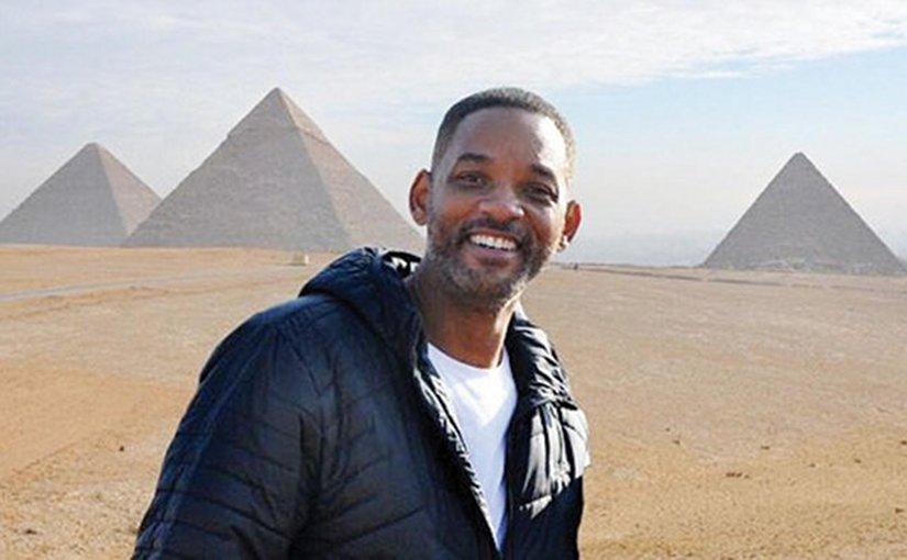 Will Smith in Egypt. Photo via Arab News.