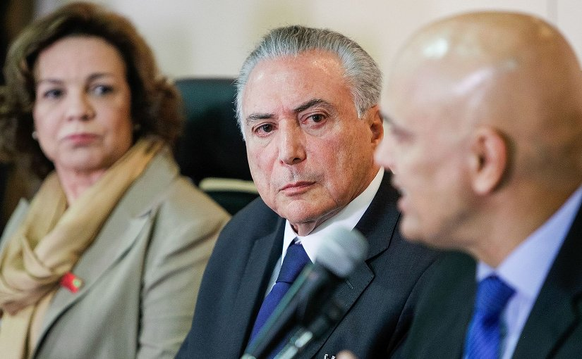 Brazil's Michel Temer and Alexandre de Moraes. Photo Credit: Michel Temer, Beto Barata /PR, Wikipedia Commons.