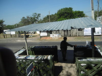 Security checkpoint in southern Mexico