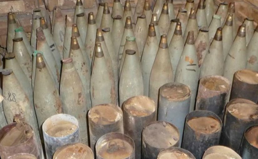Aging Albanian mortar shells Photo: NATO