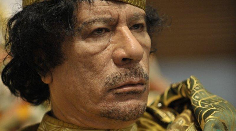 Libya's Muammar al-Gaddafi. U.S. Navy photo by Mass Communication Specialist 2nd Class Jesse B. Awalt
