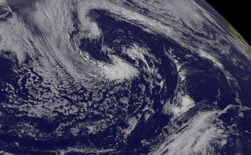 GOES-East satellite captured this visible image of Tropical Storm Arlene on April 21 at 1145 UTC (7:45 a.m. EDT). Credit Credits: NASA/NOAA GOES Projec