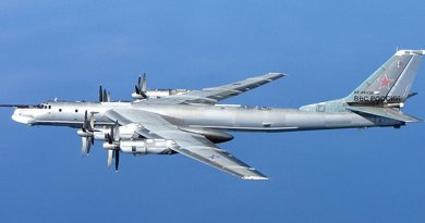 A Russian Tu-95 Bear bomber. File photo by RAF/MOD, Wikipedia Commons.