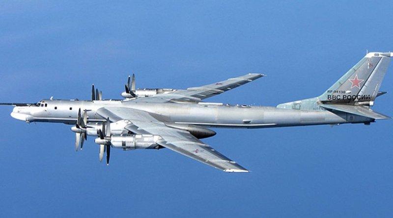 A Russian Tu-95 Bear bomber. File photo by RAF/MOD, Wikipedia Commons.
