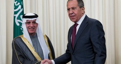 Russia's Foreign Minister Sergey Lavrov with Saudi Foreign Minister Adel al-Jubeir. Photo Credit: Russia Foreign Ministry.