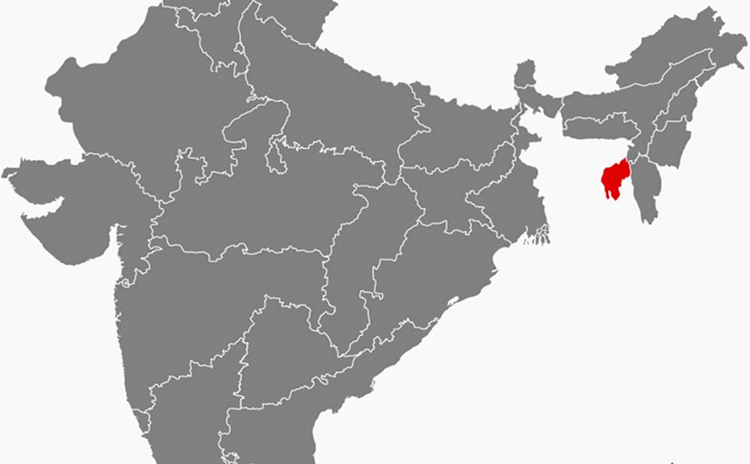 Location of Tripura in India. Source: Wikipedia Commons.