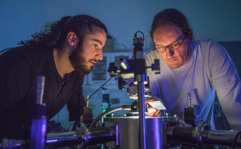 Prof Jonathan Coleman and team have fabricated printed transistors consisting entirely of 2-dimensional nanomaterials for the first time. Credit AMBER, Trinity College Dublin