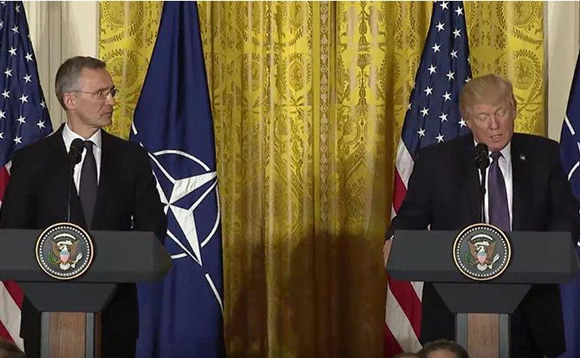 NATO Secretary General Jens Stoltenberg and the President of the United States, Donald Trump. Photo Credit: White House/NATO.