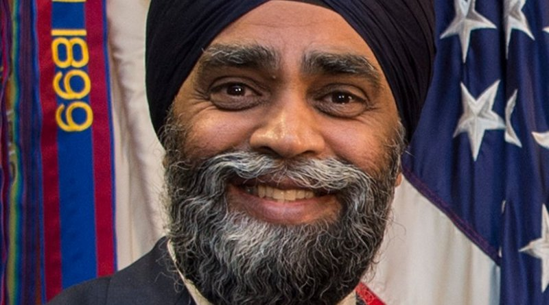 Canada's Minister of Defense Harjit Sajjan. DOD photo by Air Force Tech. Sgt. Brigitte N. Brantley