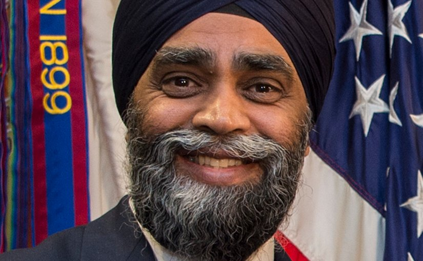 Canada's Minister of Defense Harjit Sajjan. DOD photo by Air Force Tech. Sgt. Brigitte N. Brantley