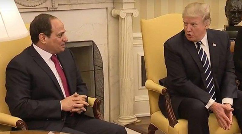 Egyptian President Abdel Fattah al-Sisi meets with US President Donald Trump. Photo Credit: White House video screenshot.