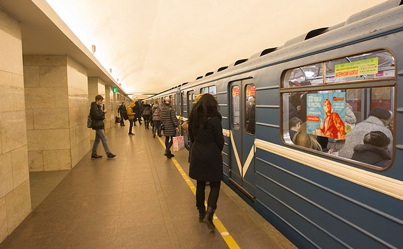 Subway in St. Petersburg, Russia. Photo by Poudou99, Wikipedia Commons.