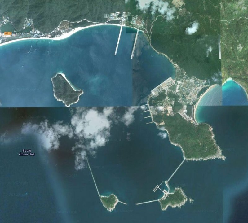China's new naval base for them that runs along Yalong Bay, near the South China Sea.
