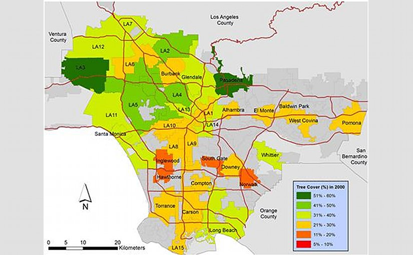 No area in Southern Calif. was immune from home remodeling, add-ons, redevelopment and the 'hardscaping' of residential lots, destroying trees and other plant life Credit USC News and Spatial Sciences Institute