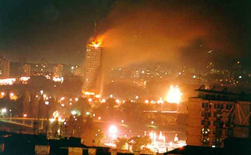 The Usce building in Belgrade was bombed on April 21, 1999. Photo: Wikipedia.