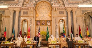 President Donald Trump and King Salman bin Abdulaziz Al Saud of Saudi Arabia attend the meeting of the Leaders of the Cooperation Council for the Arab States of the Gulf Countries, Sunday, May 21, 2017, at the King Abdulaziz Conference Center in Riyadh, Saudi Arabia. (Official White House Photo by Shealah Craighead)