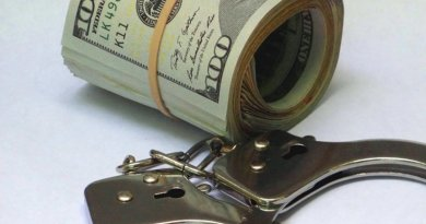 dollar crime handcuffs