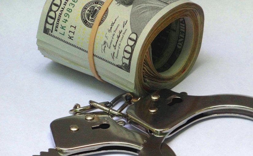 dollar crime handcuffs