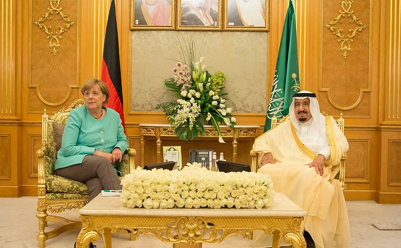 Saudi Arabia's King Salman bin Abdulaziz Al Saud and Germany's Chancellor Angela Merkel. Photo Credit: SPA
