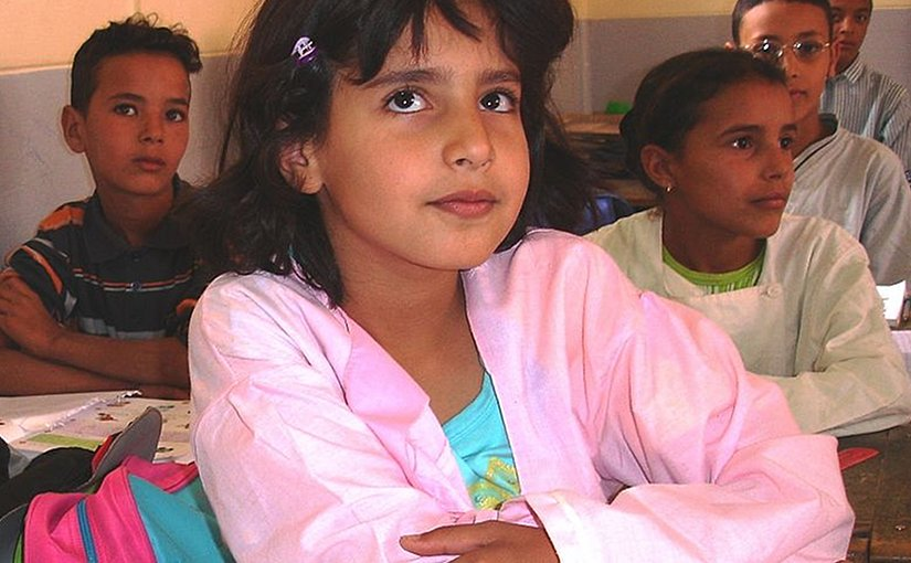Schoolchlldren in Morocco. Photo Credit: USAID Morocco, Wikimedia Commons.