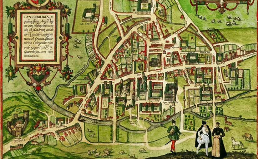 Cambridge in 1575. Credit: William Smith and Richard Lyne - Civitates orbis terrarum, volume ii, published in Cologne by Georg Braun and Frans Hogenberg, Wikipedia Commons.