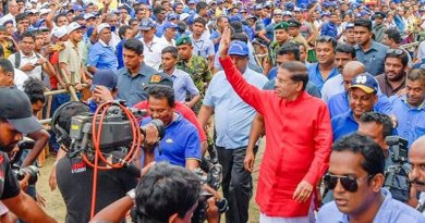 Sri Lanka's President Maithripala Sirisena attends May Day rally. Photo Credit: Sri Lanka Government.