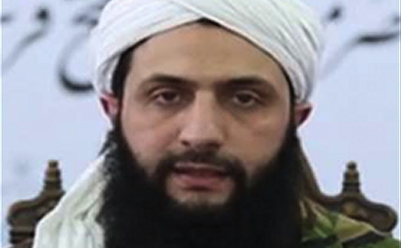 Al Nusrah Front's Al Jawlani in a 2016 interview. Photo released by FBI.